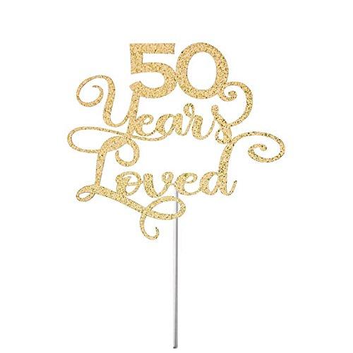 Decoración para tartas de 50 años, decoración para tarta de ...