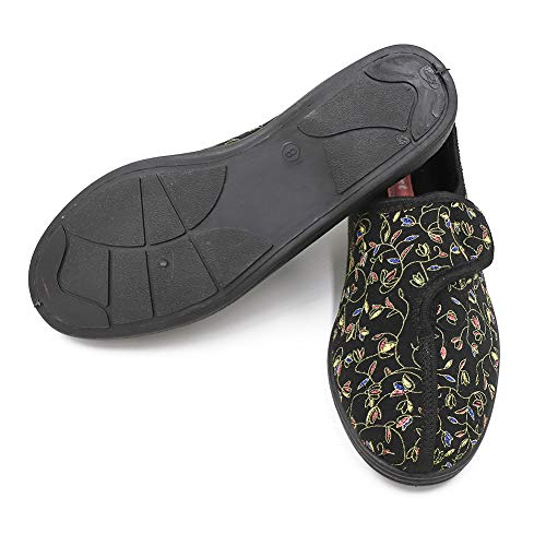 1a87d75f0e7 Ladies Diabetic Slippers Orthopedic Wide Fit Fully Adjustable Touch Close  Strap House Shoes for Women