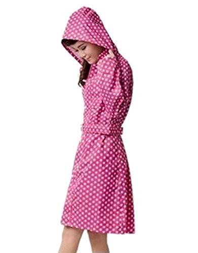 Pluie Étanche Eva Poncho Pink De Rain Randonnée Fête Style Veste Dots Polka Respirant Réutilisable Imperméable Femmes xPtwqTn