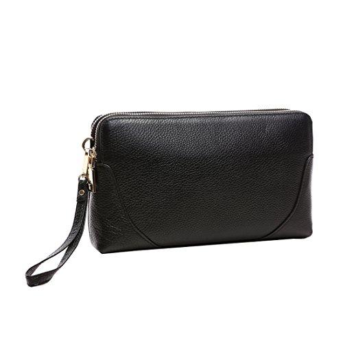 Black Clutch Leather Missmay Bag Crossbody Purse Wristlet Women's Top Shoulder ZfnzfT7