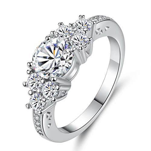 Pixel Jewelry 1985 - 5.80/ct Lab diamond White Sapphire Wedding Ring 10KT White Gold Jewelry Size6