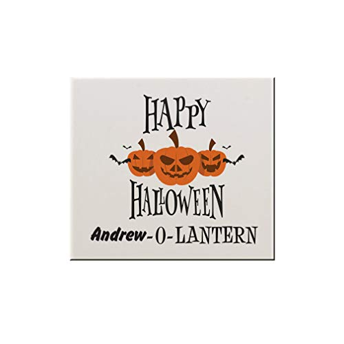 Style In Print Personalized Custom Text Happy Halloween Ceramic Accent Mural Tile Backsplash - -
