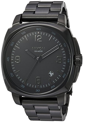 Nixon Men's 'Charger' Quartz Metal and Stainless Steel Watch, Color:Black (Model: A1072001-00) ()