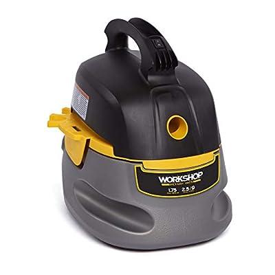 WORKSHOP Wet/Dry Vacs Workshop Wet Dry Vac WS0255VA Compact, Portable Wet Dry Vacuum Cleaner, 2.5 gallon Small Shop Vacuum Cleaner, 1.75 Peak Hp Portable Vacuum