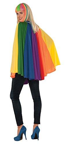 Forum Women's 30 inch Rainbow Cape, Multi/Color, One (Rainbow Cape)