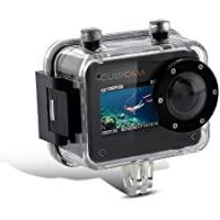 Full HD 1080P12MP Waterproof Action Sport Camera/Camcorder with Waterproof Case & RF Remote Controller for Riding,Racing,Skiing,Motorcycle,Motocross, Water Sports and More