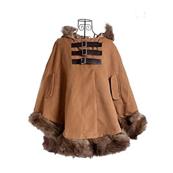 Amazon.com: Fashion Women's Winter Warm Cloak Faux Fur