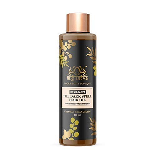 Ang-Tatva The Dark Spell Hair Oil, Helps in Premature Greying, Provides Complete Nourishment & Hair Strengthening For Thicker, Healthier Hair, 100 ml