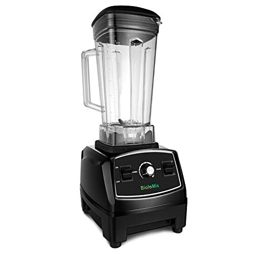 Countertop Blender Professional Commercial Mixer Blender 70oz with 2200 Watt BaseTotal Crushing Technology for Smoothies, Ice and Frozen Fruit (Black)