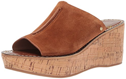 Sam Edelman Women's Ranger Wedge Sandal, Luggage Suede, 10 Medium US (Suede Edelman Wedges)