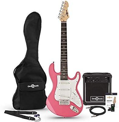 Guitarra Electrica LA 3/4 + Paquete de Amplificador de 10 W Rosa ...
