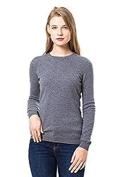 Gobi Cashmere 100 Women S Crew Neck Pullover Sweater Grey L