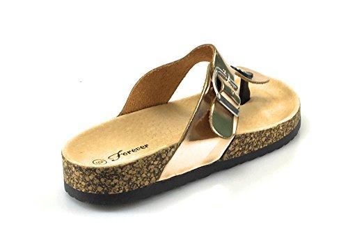 ... Alltid Knytte Birken 12 Kvinner Uformell Spenne Thong Strap Sandaler  Flip Flop-plattformen I Fots