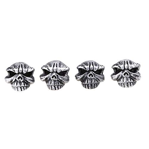 EveryPossible Bling Bling Car Accessories Crystal Deluxe Diamond Crown Tire Valve Stem Caps (Cap Skull Deluxe)