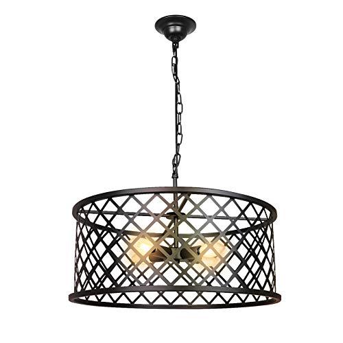 (Paragon Home 3-Light Black Round Pendant Lighting, 8.66