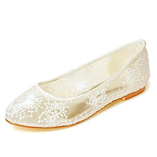 9872 Y Plata 20 Para Noche 1 yc Plano En Boda Yellow Dorada Confort Zapatos Encaje Mujer L De xIwqOY0Wz