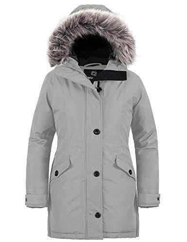 Wantdo Women's Winter Hooded Coat Waterproof Warm Long Puffer Jacket Parka