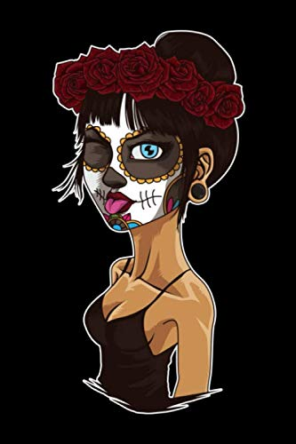 Funny Lady Of The Dead: Blank Sketch Paper Notebook with frame for Day Of The Dead -