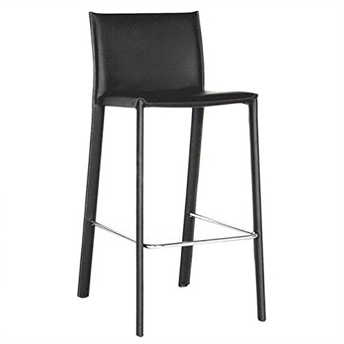Wholesale Interiors Steel Bar Stool - Black Bar Stool by Wholesale Interiors