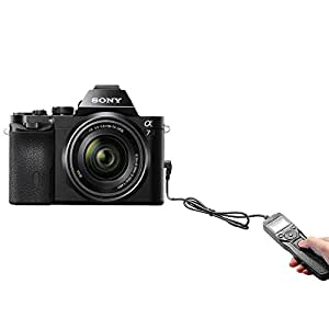 Temporizador Digital disparador con Control remoto w/pantalla LCD para cualquier cámara Sony RM-S1AM mando a distancia compatible con enchufes de