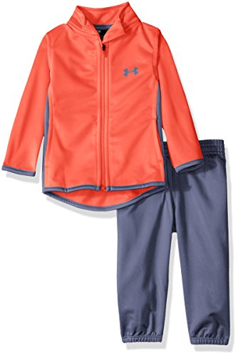 Under Armour Baby' Zip up Jacket and Pant Set, Pink Chroma, 3-6 (Under Armour Pink Jacket)