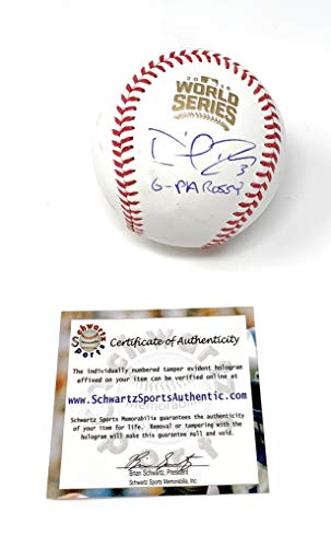 David Ross Chicago Cubs Signed Autograph Official World Series MLB Baseball GPA ROSSY INSCRIBED Schwartz Sports Authentic Certified