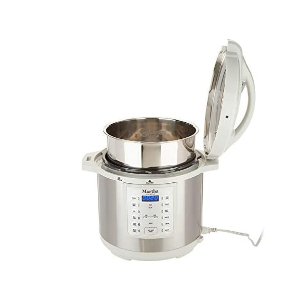 Martha Stewart 8 Qt 7-in-1 Everything Pressure Cooker, Programmable Slow Cooker, Rice Cooker, Steamer, Sauté and Sear… 4