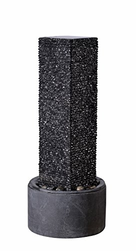 Kenroy Home 51040BL Flat Rock Outdoor Floor Fountain, Black