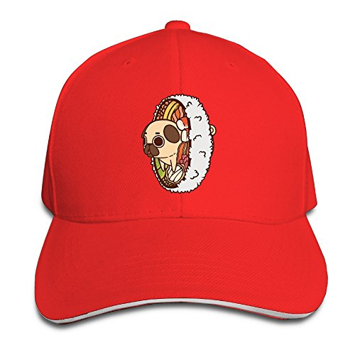 French Bulldog Rice Roll Unisex Casual Adjustable Sized Trucker Book Peaked Snapbacks Hats