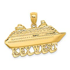 Attributes:Genuine 14k Yellow Gold - Avg Weight: 3.39 gr.Charm/Element Size: 17 mm x 32 mm30 Day Hassle Free Returns100% Satisfaction GuaranteeOther Specs:Finish: PolishedManufacturing Process: CastedPendant/Charm Type: ThemedThickness: 1.1 m...