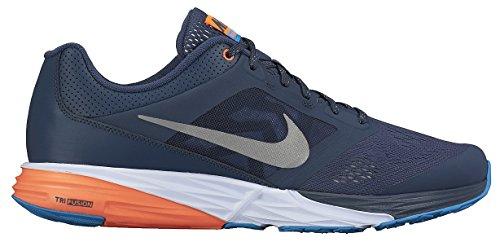 Nike Tri Fusion Run Flash - Zapatillas de running unisex, color negro / gris / naranja