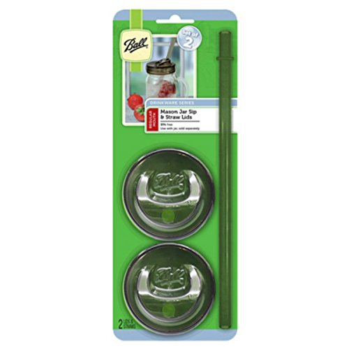 Ball 1440015005 Regular Mouth Sip N Straw Lids, 6-count (Pack Of 6)