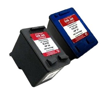 HouseOfToners Remanufactured Ink Cartridge Replacement for HP 56 & 57 (1 Black & 1 Color, 2-Pack)