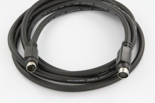 NavePoint Premium 4-Pin S-Video Min Din Male to Male Cable 6 Ft