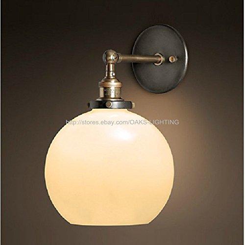 Qwer el antiguo candelabro de pared. Lámpara de bombilla de cristal soporte dormitorio lámpara de pared (D) 7,8