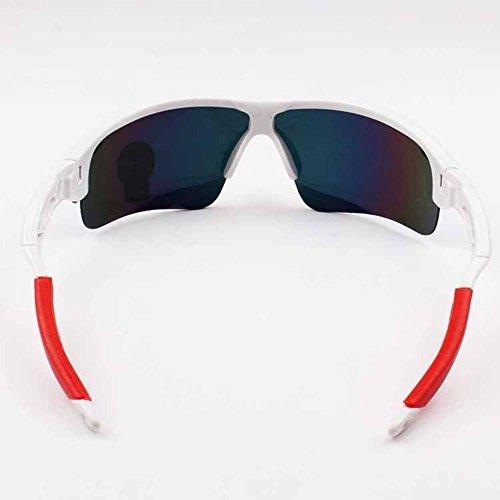 hombre Gafas Gafas sol medio de gafas de pesca al libre para Acampar Montar sol borde LAAT Deportes sol con aire de Gafas polarizadas de correr 1 de bicicleta deportivas dqwETIv7