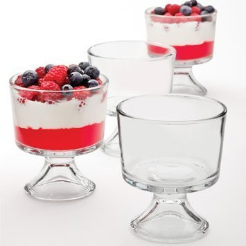 - Anchor Hocking Presence Mini Trifle Footed Dessert Bowls, Set Of 4