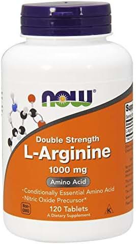 NOW Supplements, L-Arginine 1000 mg, Amino Acid, 120 Tablets
