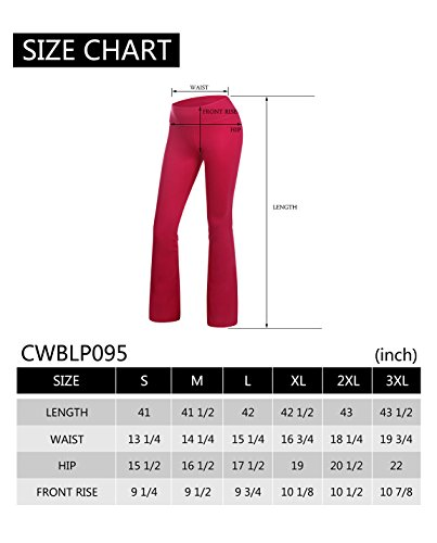 Yoga Reflex Women's Boot-Leg Fitness Yoga Running Lounge Pants Workout Leggings , DeepPurple , Large