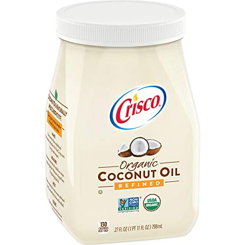 Coconut Refined Oil (Crisco Refined Organic Coconut Oil, 27 Fluid Ounce (Pack of 6))