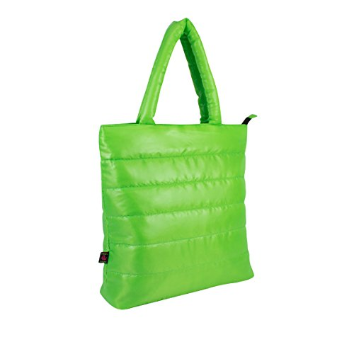 Puffy Bag - Eastsport Ultra-lite Tote, Neon Green