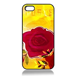 Red Rose Beauty Design Phone Case Hard Back Shell Cover for IPHONE 5 5S --Pink roses nice packaged by LINDAS