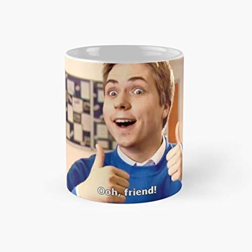 The Inbetweeners - OOH, FRIEND! Mug, inbetweeners Funny Mugs, 11 Ounce Ceramic Mug, Perfect Novelty Gift Mug, Tea Cups, Funny Coffee Mug 11oz, Tea Mugs