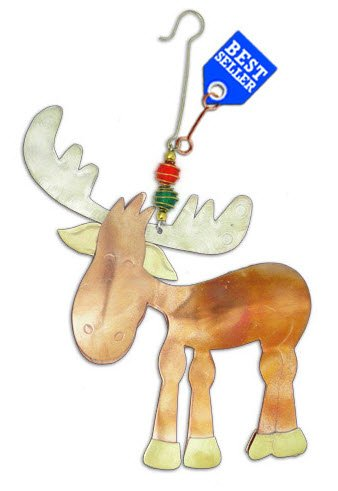 BD Holiday Collection- Murphy Moose Metal Holiday Ornament (Murphy Moose)