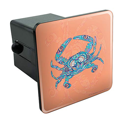 - Graphics and More Mosaic Crab Tow Trailer Hitch Cover Plug Insert 2