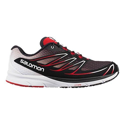Salomon L37914200, Zapatillas de Trail Running para Hombre Negro (Black /     White /     Radiant Red)