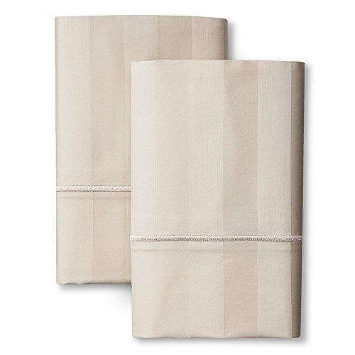 - Fieldcrest Luxury Egyptian Cotton 500 Tc Damask Pillowcase - Sea Salt King
