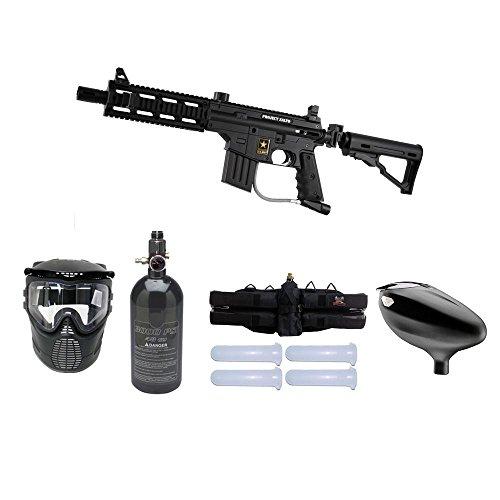 Tippmann U.S. Army Project Salvo Tactical Starter HPA Paintball Gun Package -...