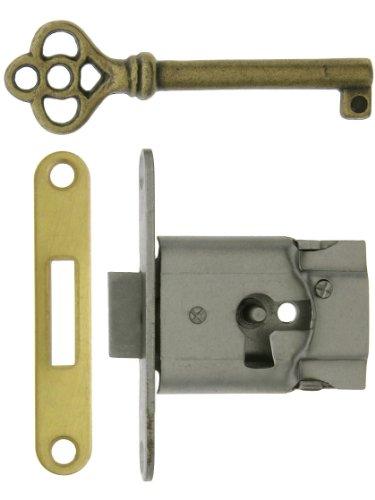 Polished Steel Full-Mortise Drawer or Cabinet Lock with (Full Mortise Cabinet Lock)