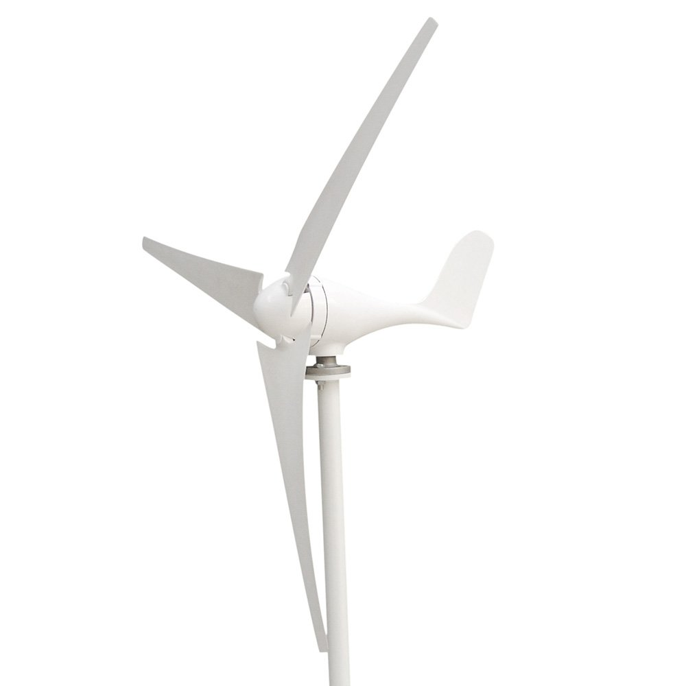 Vogvigo Wind Generator 300W Three-phase DC 12V Wind Turbine, Residential Wind Generator 3-Blade Kit Light Weight Generator 15 Years Life Span